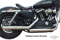 607888 - BSL Slip On Mufflers E3 Smooth, Donut End Cap Black, Sportster 14-16