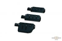 618090 - Küryakyn Trident Large ISO-Pegs with Male Mount Adapters, Gloss Black