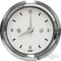 682729 - CLOCK BASIC BLK / WHT / YEL LIGHT