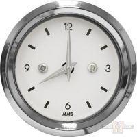682733 - CLOCK BASIC BLK / WHT / WHT LIGHT
