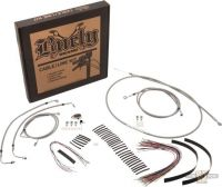 "690261 - Burly stainless steel braided control kit for 13"" tall bars"