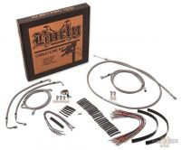 "690280 - Stainless Steel Braided Cable Kit for 16"" Bars"