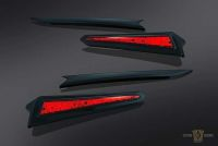 777171 - LED Saddlebag Extensions, Gloss Black