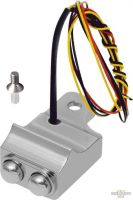 901772 - Switch Housing, Mini, 2-Button, Cable/Hydraulic Clutch, Left, Chrome