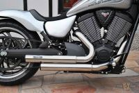 "990013 - PM American Cycles Victory,Top Chop Staggered  Hammer,Headpipes 2 1/2"" VA Showchrome"