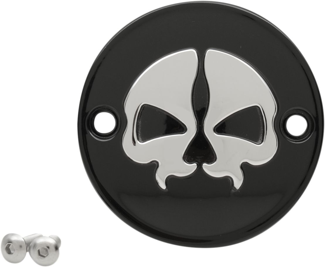 09401744 - DRAG SPECIALTIES COVER PTS SP SKULL BLK M8