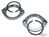 027583 - EXHAUST MOUNTING FLANGE AND RETAINING RING KITS  Chrome exhaust flanges only, pair (OEM 65328-83)