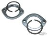 027585 - EXHAUST MOUNTING FLANGE AND RETAINING RING KITS  Kit with chrome exhau...