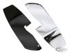 053586 - HEEL GUARD FOR FLOORBOARD EQUIPPED MODELS  Chrome driver floorboard he...