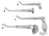 055095 - SHOW CHROMED ADJUSTABLE KICKSTANDS  Fits 1988 thru 1999 Softail front ...